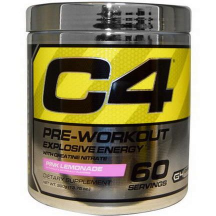 Cellucor, C4, Pre-Workout, Explosive Energy, Pink Lemonade 390g