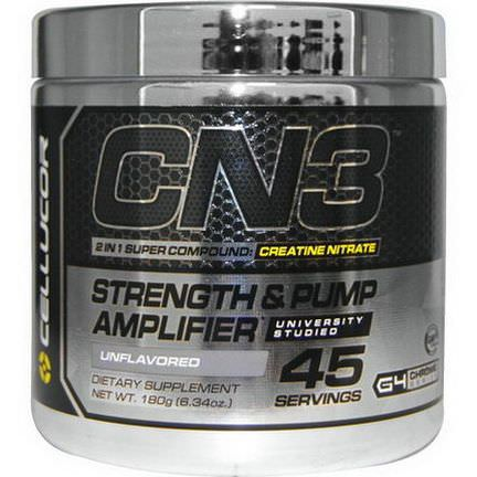 Cellucor, CN3, Strength&Pump Amplifier, Unflavored 180g
