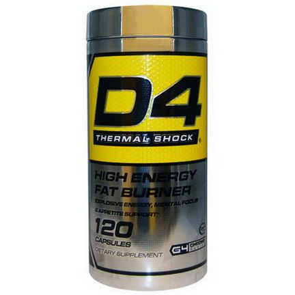 Cellucor, D4 Thermal Shock, High Energy Fat Burner, 120 Capsules