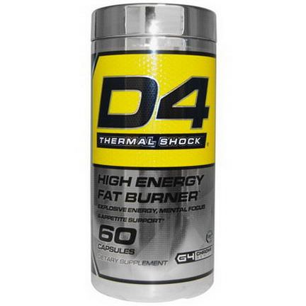 Cellucor, D4 Thermal Shock, High Energy Fat Burner, 60 Capsules