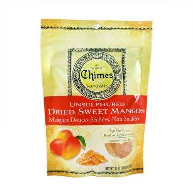 Chimes, Unsulphured Dried, Sweet Mangos 100g