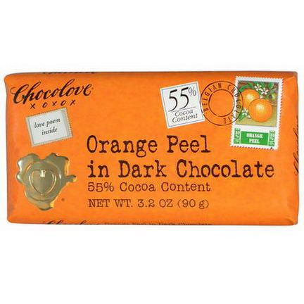 Chocolove, Orange Peel in Dark Chocolate 90g