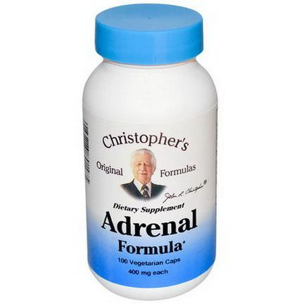Christopher's Original Formulas, Adrenal Formula, 400mg, 100 Veggie Caps