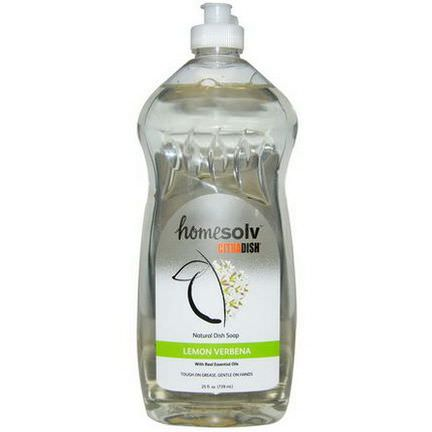 Citra-Solv, Homesolv, CitraDish, Natural Dish Soap, Lemon Verbena 739ml