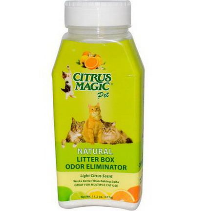 Citrus Magic, Litter Box Odor Eliminator, Light Citrus Scent 317g