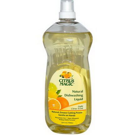 Citrus Magic, Natural Dishwashing Liquid, Light Citrus Scent 739ml