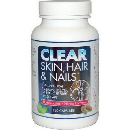 Clear Products, Clear Skin, Hair&Nails, 120 Capsules