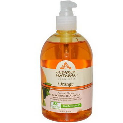 Clearly Natural, Clearly Natural Essentials, Glycerine Hand Soap, Orange 354ml