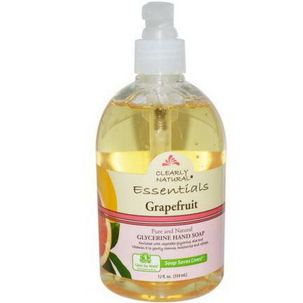 Clearly Natural, Essential, Glycerine Hand Soap, Grapefruit 354ml