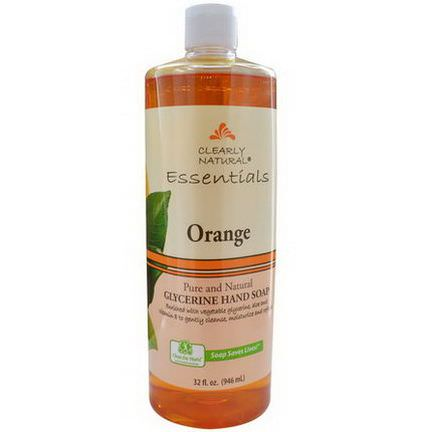 Clearly Natural, Essentials, Glycerine Hand Soap, Orange 946ml