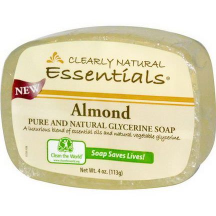 Clearly Natural, Pure and Natural Glycerine Soap, Almond 113g