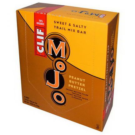 Clif Bar, Mojo, Sweet&Salty Trail Mix Bar, Peanut Butter Pretzel, 12 Bars 45g Per Bar
