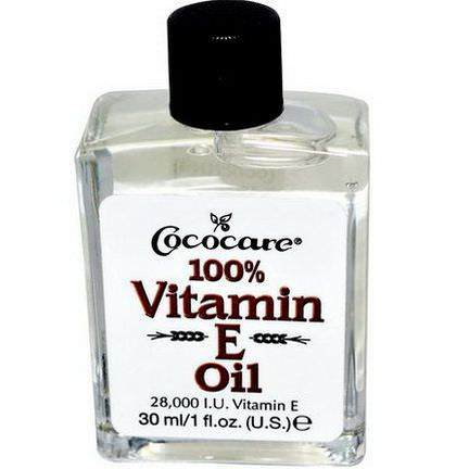 Cococare, 100% Vitamin E Oil, 28,000 IU 30ml