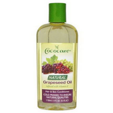 Cococare, Hair&Skin Conditioner, Natural Grapeseed Oil 118ml