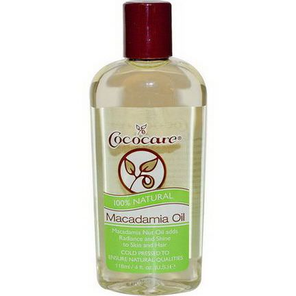 Cococare, Macadamia Oil 118ml