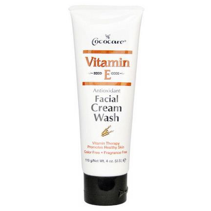Cococare, Vitamin E, Antioxidant Facial Cream Wash 110g