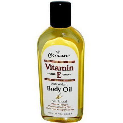 Cococare, Vitamin E, Body Oil 250ml