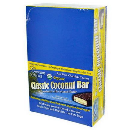 Coconut Secret, Organic, Classic Coconut Bar, 12 Bars 50g Each