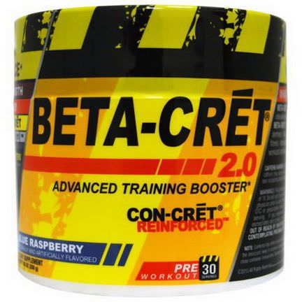 Con-Cret, Beta-Cret 2.0, Advanced Training Booster, Blue Raspberry 200g