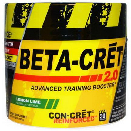 Con-Cret, Beta-Cret 2.0, Advanced Training Booster, Lemon Lime 195g