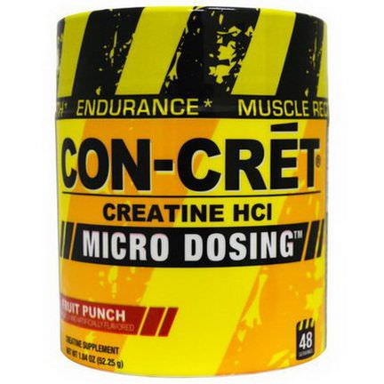 Con-Cret, Creatine HCl, Micro Dosing, Fruit Punch 52.25g