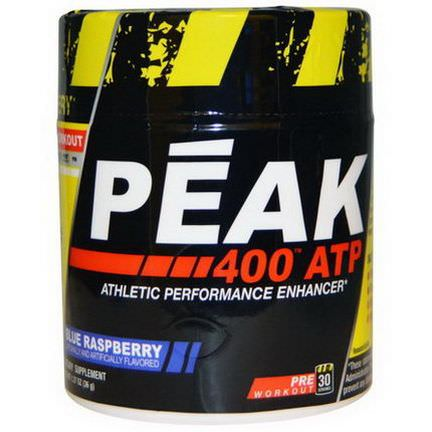 Con-Cret, Peak 400 ATP, Athletic Performance Enhancer, Blue Raspberry 36g