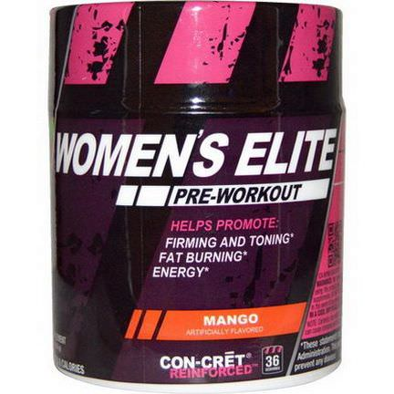 Con-Cret, Women's Elite, Pre-Workout, Mango 39.6g