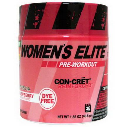 Con-Cret, Women's Elite, Pre-Workout, Raspberry 46.8g
