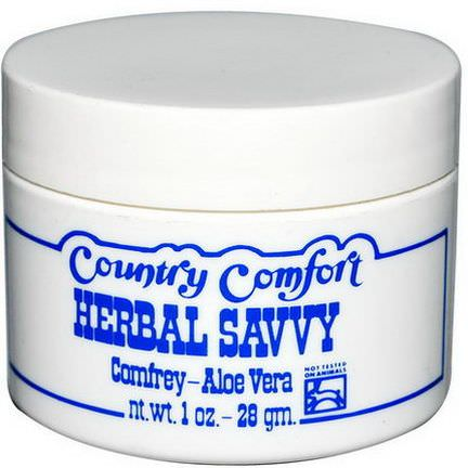 Country Comfort, Herbal Savvy, Comfrey-Aloe Vera 28g
