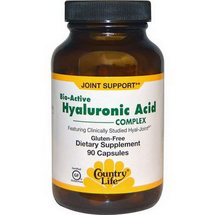 Country Life, Bio-Active Hyaluronic Acid Complex, 90 Capsules