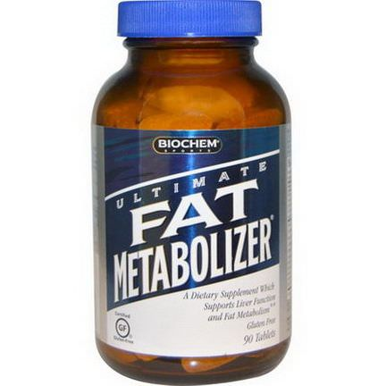 Country Life, Gluten Free, BioChem Sport, Ultimate Fat Metabolizer, 90 Tablets