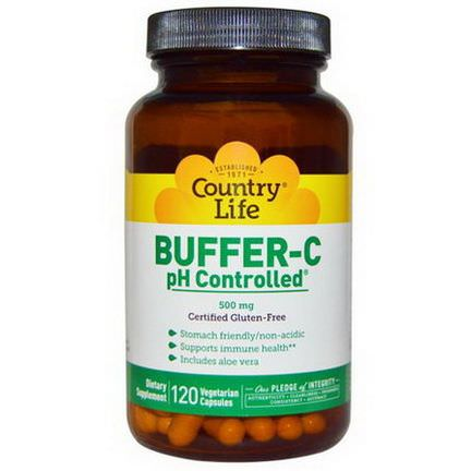 Country Life, Buffer-C, pH Controlled, 500mg, 120 Veggie Caps