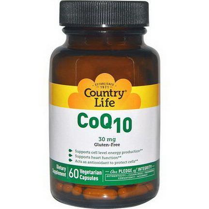 Country Life, CoQ10, 30mg, 60 Veggie Caps