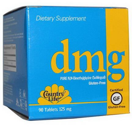 Country Life, DMG, 125mg, 90 Tablets