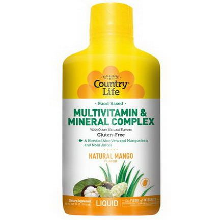 Country Life, Food Based Multivitamin&Mineral Complex, Natural Mango Flavor 944ml
