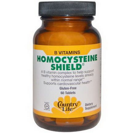 Country Life, Homocysteine Shield, 60 Tablets
