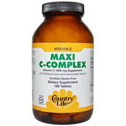 Country Life, Maxi C-Complex, 180 Tablets