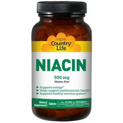 Country Life, Niacin, 500mg, 90 Tablets