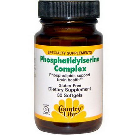 Country Life, Phosphatidylserine Complex, 30 Softgels