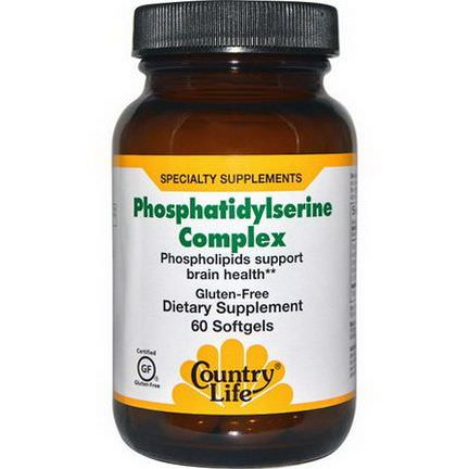 Country Life, Phosphatidylserine Complex, 60 Softgels