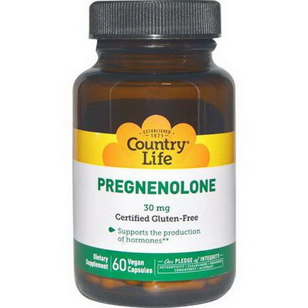 Country Life, Pregnenolone, 30mg, 60 Veggie Caps