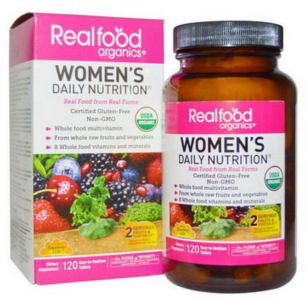 Country Life, RealFood Organics, Women's Daily Nutrition, 120 Tablets