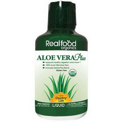 Country Life, Realfood Organics, Aloe Vera Plus 944ml