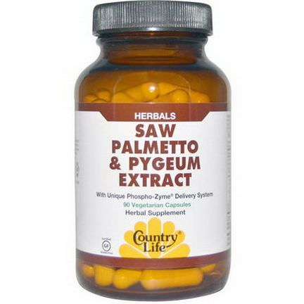 Country Life, Saw Palmetto&Pygeum Extract, 90 Veggie Caps