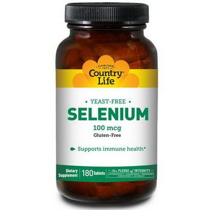 Country Life, Selenium, 100mcg, 180 Tablets