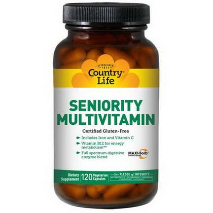 Country Life, Seniority Multivitamin, 120 Veggie Caps