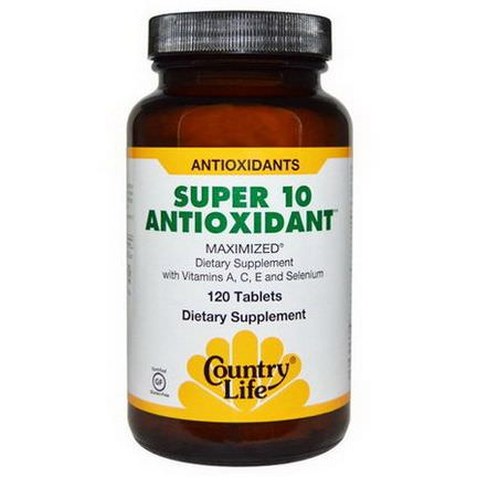 Country Life, Super 10 Antioxidant, 120 Tablets