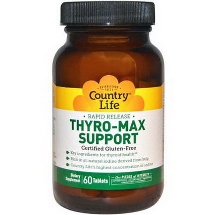 Country Life, Thyro-Max Support, 60 Tablets