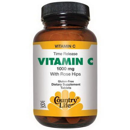 Country Life, Vitamin C, with Rose Hips, 1000mg, 250 Tablets