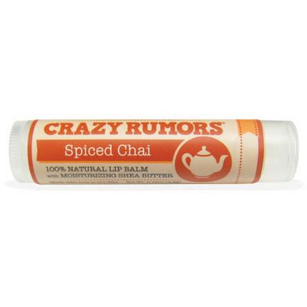 Crazy Rumors, 100% Natural Lip Balm, Spiced Chai 4.4ml